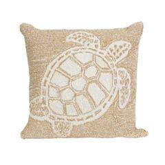 Liora Manne Frontporch Turtle Square Outdoor Pillow