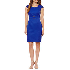 Chelsea Rose Cap Sleeve Sheath Dress