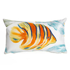 Liora Manne Visions Iii Angel Fish Square Outdoor Pillow