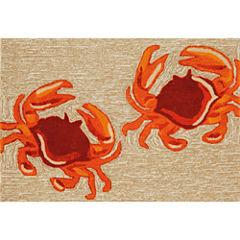 Liora Manne Frontporch Crabs Hand Tufted Rectangular Rugs