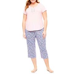 Liz Claiborne Capri Pajama Set-Plus