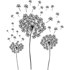 Dandelion Small Wall Decals