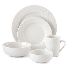 JCPenney Home™ Basketweave 40-pc. Dinnerware Set - Service for 8