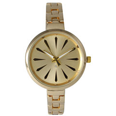 Olivia Pratt Womens Gold-Tone Petite Band Bracelet Watch 15134 15134Gold