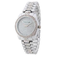 Personalized Womens Silver Tone Alloy Bracelet Watch