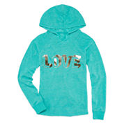 Xersion™ Long-Sleeve Knit Hoodie Shirt - Girls 7-16 and Plus