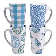 Certified International Sea Finds Set of 4 Latte Mugs