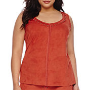 Bisou Bisou® Sleeveless Studded Top - Plus