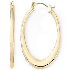 Liz Claiborne® Gold-Tone Oval Hoop Earrings