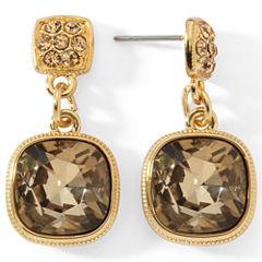 Monet® Brown Stone Drop Earrings