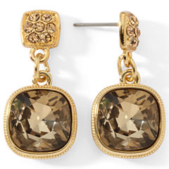 Monet® Brown Stone Drop Earrings