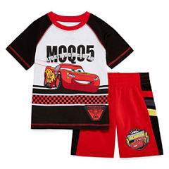 Disney by Okie Dokie 2-pc. Cars Short Set Toddler Boys