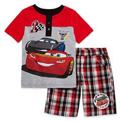 Disney by Okie Dokie 2-pc. Cars Short Set Toddler Boys