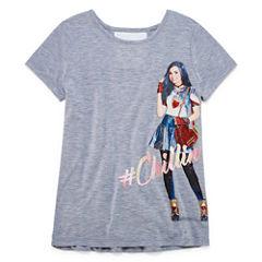 Short Sleeve Round Neck Descendants T-Shirt-Big Kid Girls