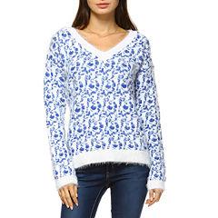 White Mark Leopard Pullover Sweater
