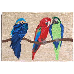 Liora Manne Frontporch Parrots Hand Tufted Rectangular Rugs