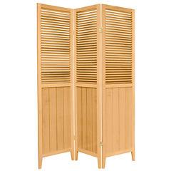 Oriental Furniture 6' Beadboard 3 Panel Room Divider