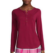Liz Claiborne® Long-Sleeve Henley Pajama Top