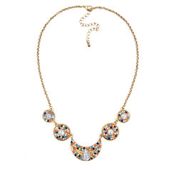 Arizona Linked Gold-Tone Beaded Necklace