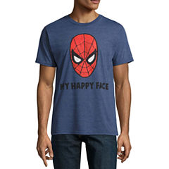 Short Sleeve Spiderman Graphic T-Shirt
