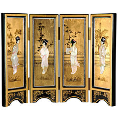 Oriental Furniture Mother Of Pearl Ladies Room Divider