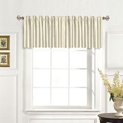 United Curtain Co. Dupioni Silk Back-Tab Straight Valance