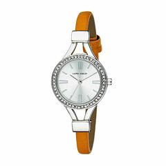 Laura Ashley Womens Orange Strap Watch-La31025ss