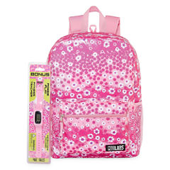 FLORAL BACKPACK WITH BONUS FITNESS WATCH