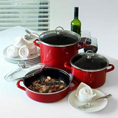 Chantal 6-pc. Steel Dishwasher Safe Cookware Set