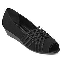 east 5th® Grace Peep-Toe Slip-On Wedges