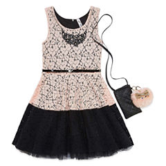 Knit Works Sleeveless Lace Skater Dress - Girl's 7-16 & Plus