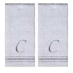 Saturday Knight 2 Pack C Monogram Hand Towel