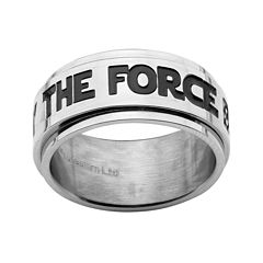 Star Wars® The Force Mens Stainless Steel Spinner Ring