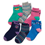 Okie Dokie® 6-pk. Critter Socks - Toddler Girls