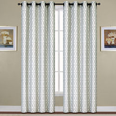 United Curtain Co. Oakland Woven Grommet-Top Curtain Panel