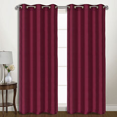 United Curtain Co. Vintage 2-Pack Grommet-Top Curtain Panel