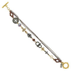 Symbols Of Faith Religious Jewelry Womens 7 3/4 Inch Chain Bracelet