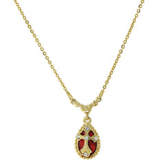 Symbols Of Faith Religious Jewelry Womens Clear Pendant Necklace