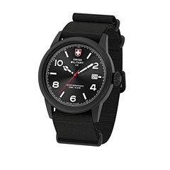 Swiss Military By Charmex Vintage Mens Black Strap Watch-78335_8_F