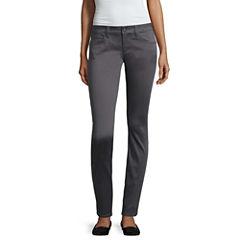 Arizona Skinny Fit Slim Pants-Juniors