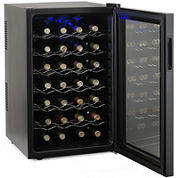 Wine Enthusiast® Silent 28-Bottle Wine Cooler