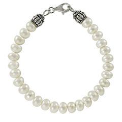 8-8.5Mm Cultured Freshwater Pearl Sterling Silver Bracelet