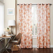 Eclipse Wythe Rod-Pocket Sheer Curtain Panel