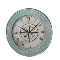 Blue Compass Wall Clock