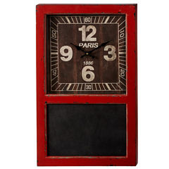 Distressed Wall Clock with Chalkboard