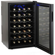 Wine Enthusiast® Silent 28-Bottle Touchscreen Wine Refrigerator