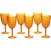 Certified International Set of 6 Hammered Acrylic All-Purpose Goblets