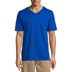 St. John's Bay Short Sleeve V Neck T-Shirt