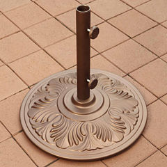 50-lb Art Deco Aluminum Umbrella Base in Bronze