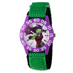 Guardian Of The Galaxy Marvel Girls Green Strap Watch-Wma000141